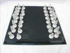 1: Glass Chess Set