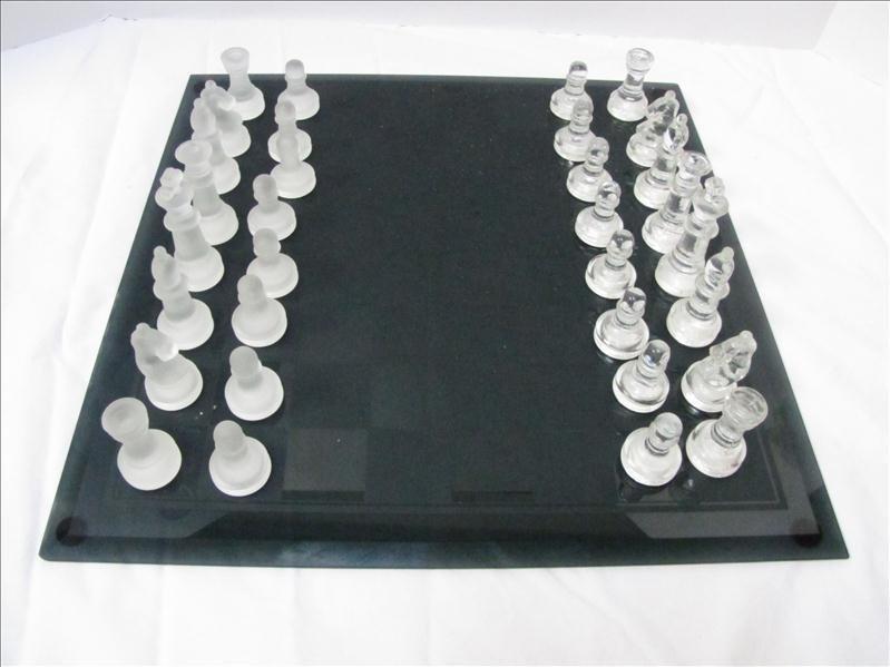 1: Glass Chess Set