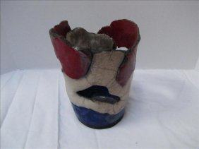 Red White & Blue Decorative Outdoor Pottery