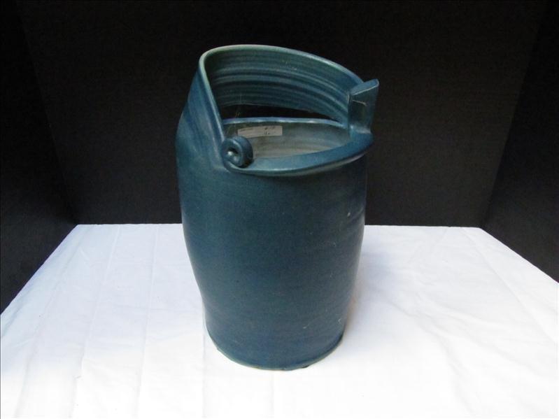 7: Dark Blue Heavy Pottery Pot
