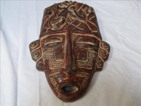 19: Incan Style Decorative Head Mask