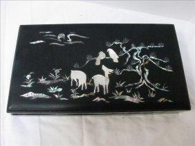 Oriental Pearl On Black Cigarette Box