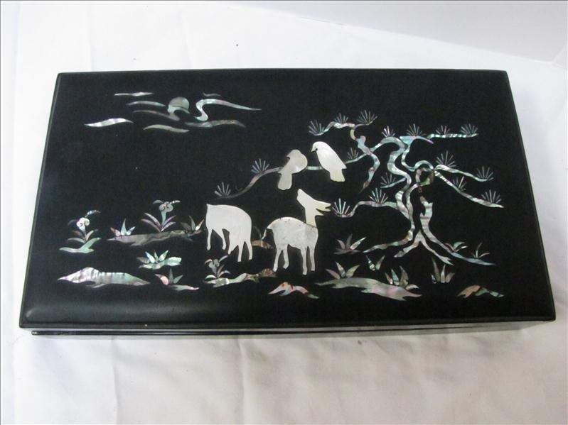 20: Oriental Pearl on Black Cigarette Box