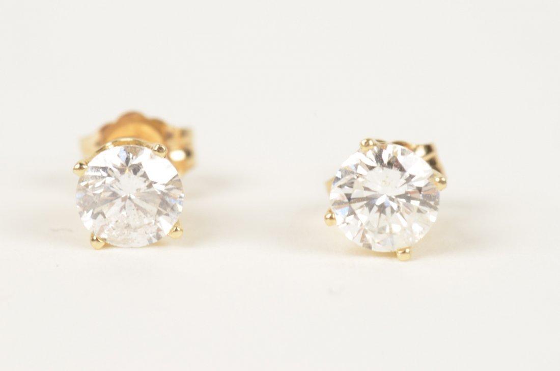 50K: 14K Diamond Stud Earrings
