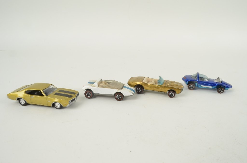 2: Red line Hot Wheels cars