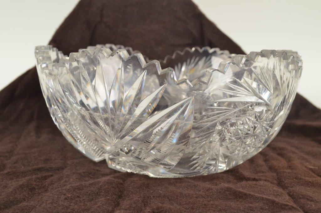 6: Cut glass bowl
