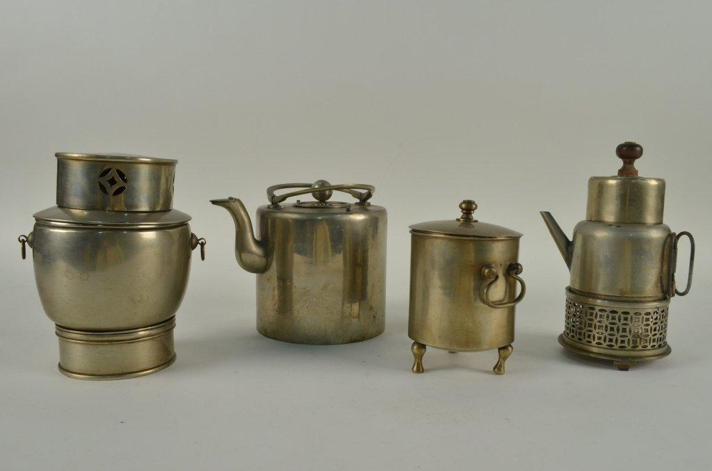8: 1920's Chinese metal tea set