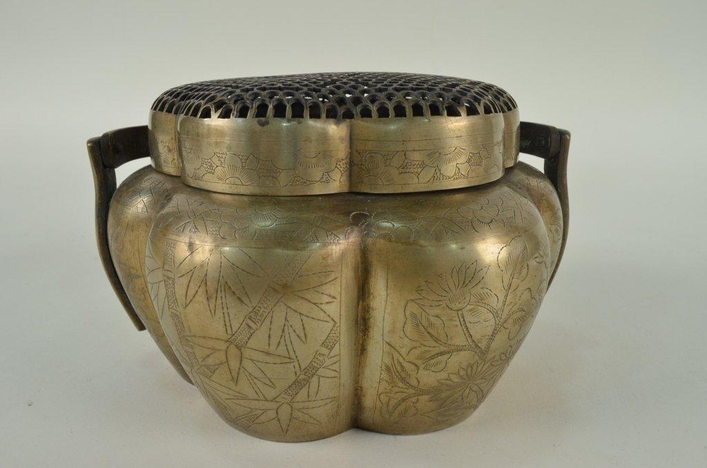 10: 1920's bronze Chinese incense burner/ Censer