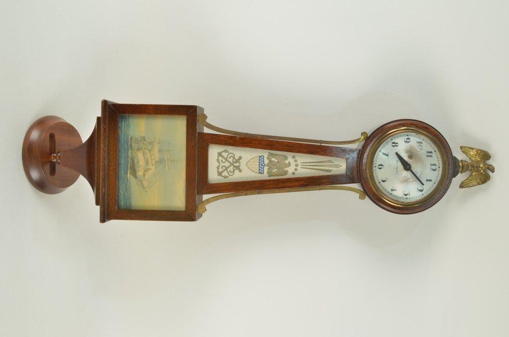 12: Seth Thomas banjo clock with ship