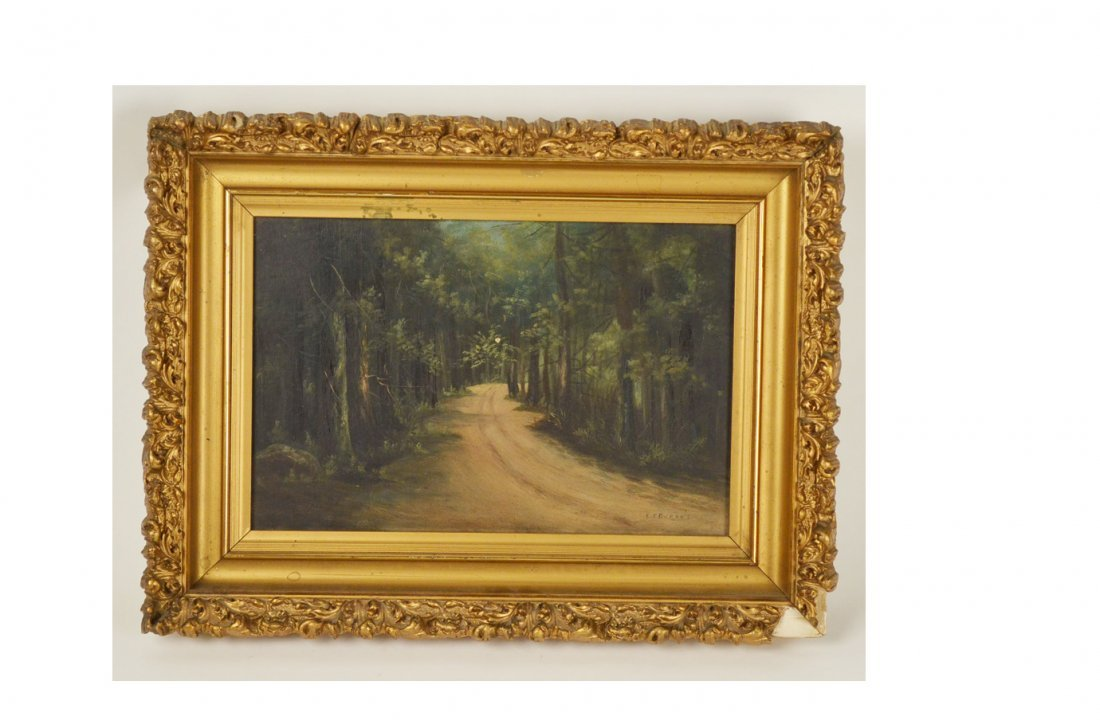 23: Original Signed Forest Oil Painting on Canvas