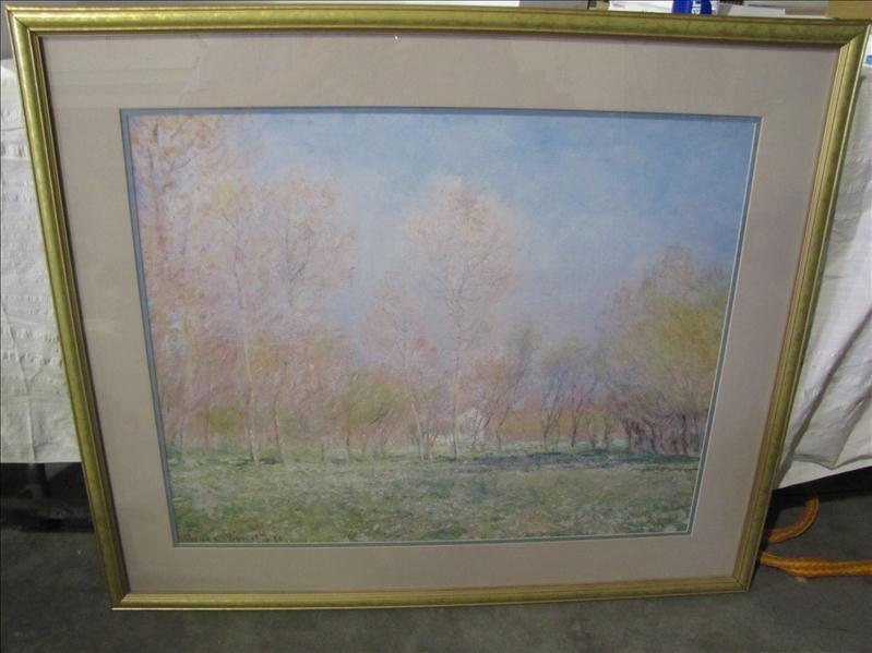 1: Framed & Matted Landscape Print