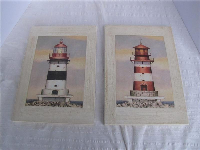 15: Pair of Oil On Canvas Lighthouse Paintings