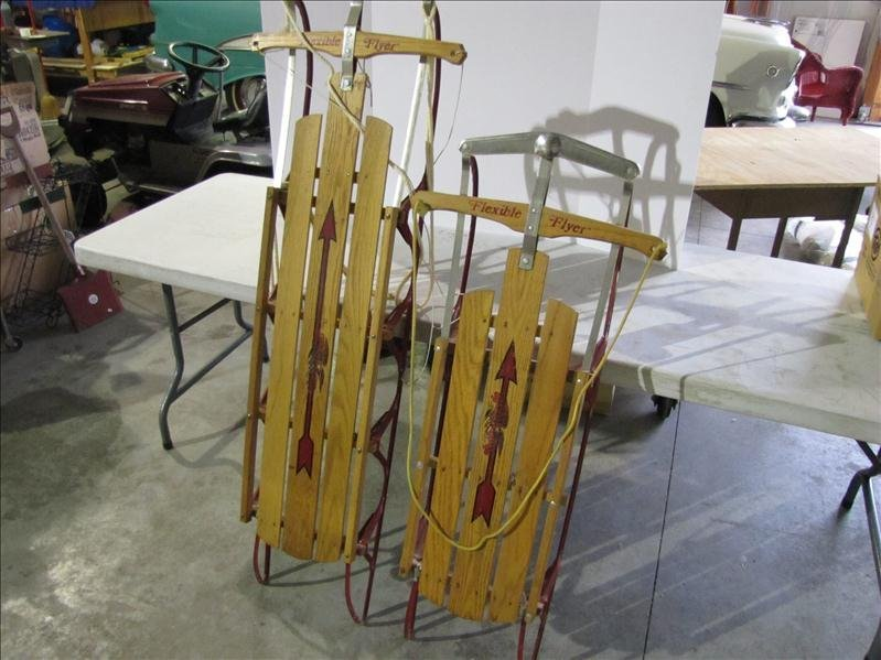 17: Pair of Vintage Flexible Flyer Sleds