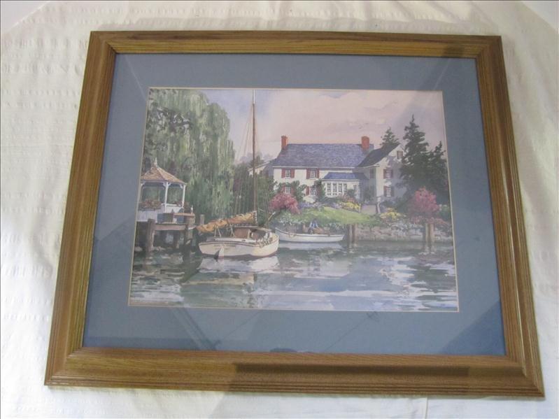 21: Bay Master Boat in Channel Framed Print