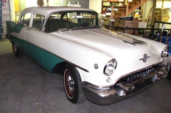 52: 1955 88 Rocket Oldsmobile 4 Door Sedan