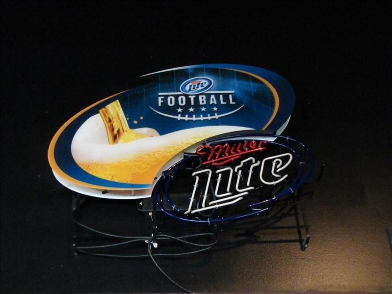 2: Miller Lite Football neon Bar Sign