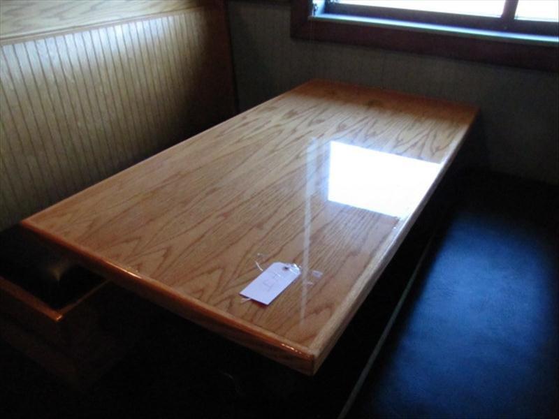 4J: Restaurant Style Wood Table