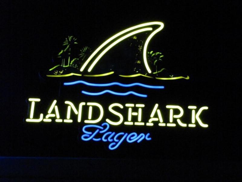 79: Lighted Neon Land Shark Beer Sign