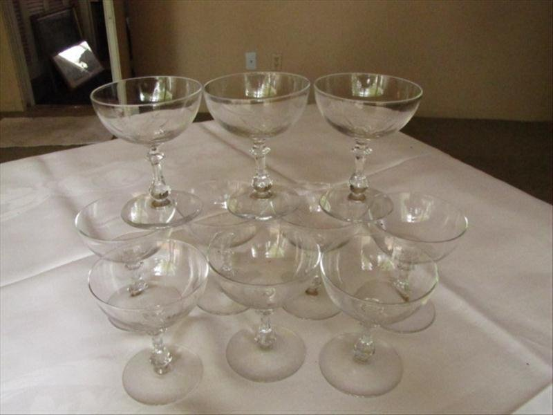 8: Etched Champagne Glasses