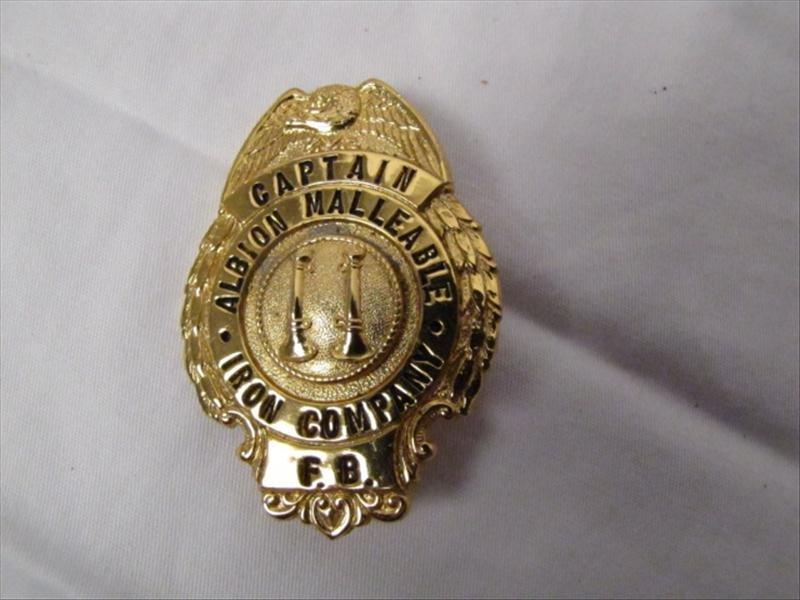 2: Albion, MI Malleable Iron Fire Brigade Badge