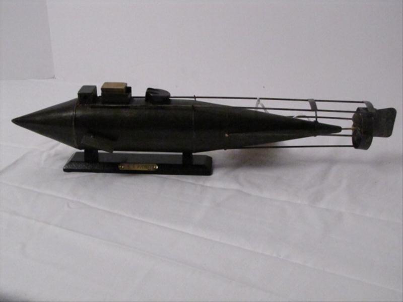 11: Civil War Model Display C.S.S. Pioneer