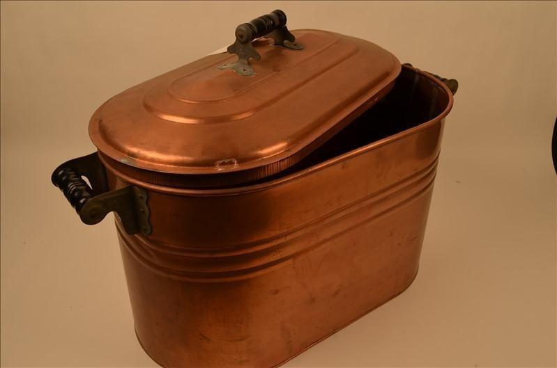 1: Vintage Copper Boiler With Lid