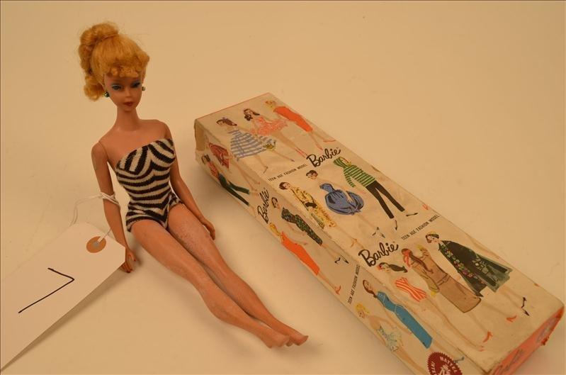 7: Early 1960's Barbie w/ Swimsuit & Box