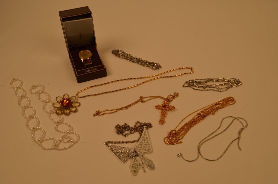 10: Costume Jewelry & Pulsar Watch