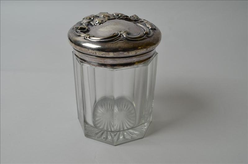 3: Heavy Embossed Glass Humidor