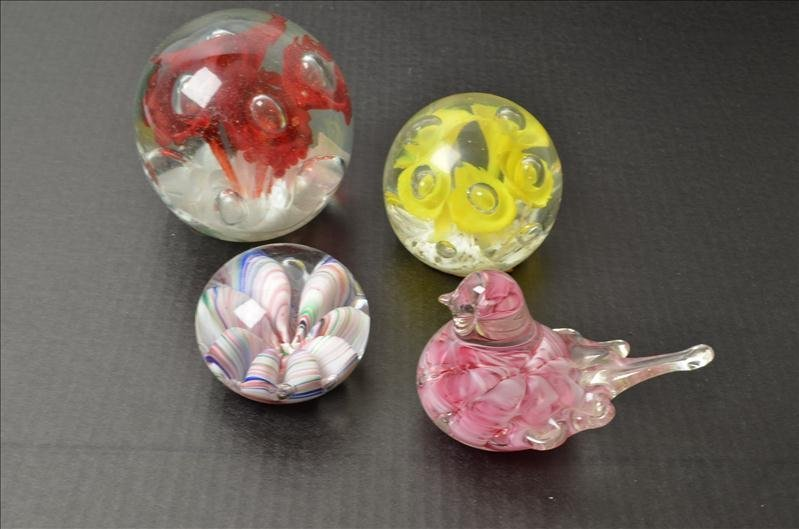 17: (4) Art Glass Paperweights