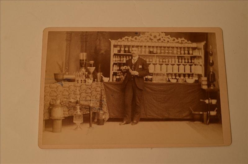 24: Druggist Pharmacy Cabinet Photograph