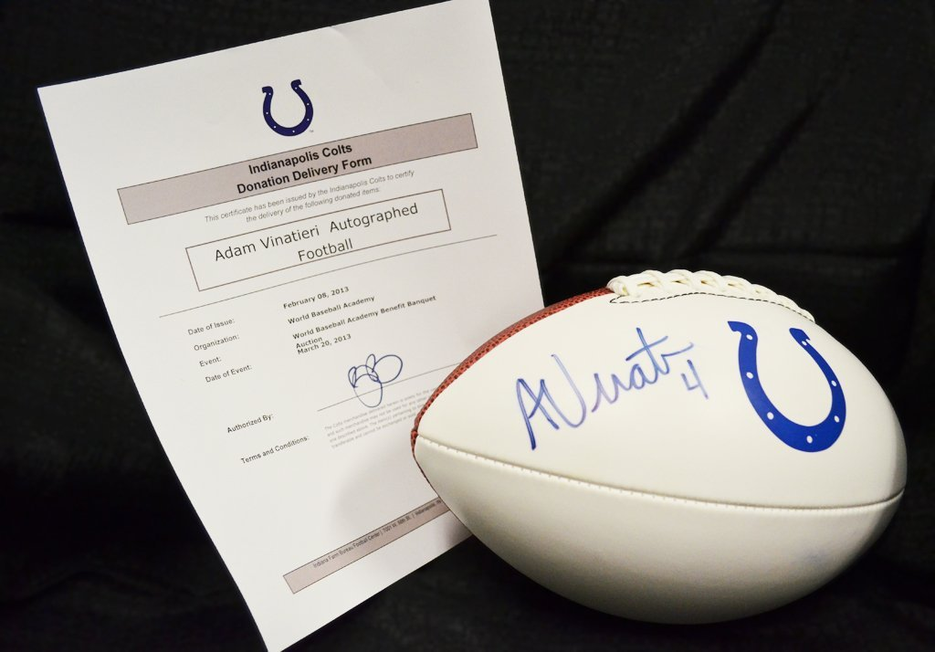 Adam Vinatieri Autographed Football