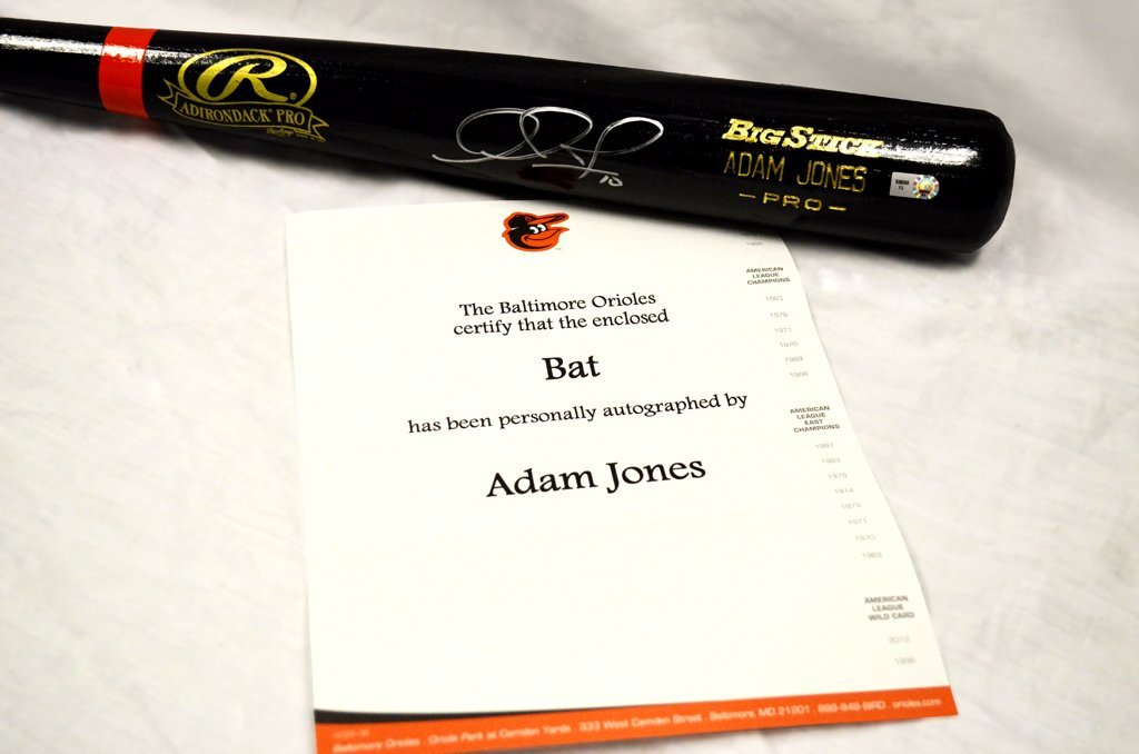 Baltimore Orioles Adam Jones Autographed Bat