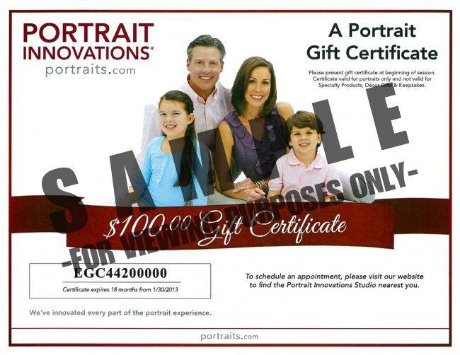 A Portrait Certificate