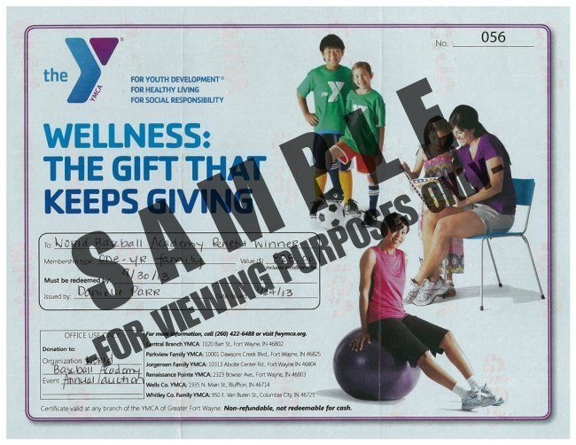 Fort Wayne Jorgensen Family YMCA  Membership