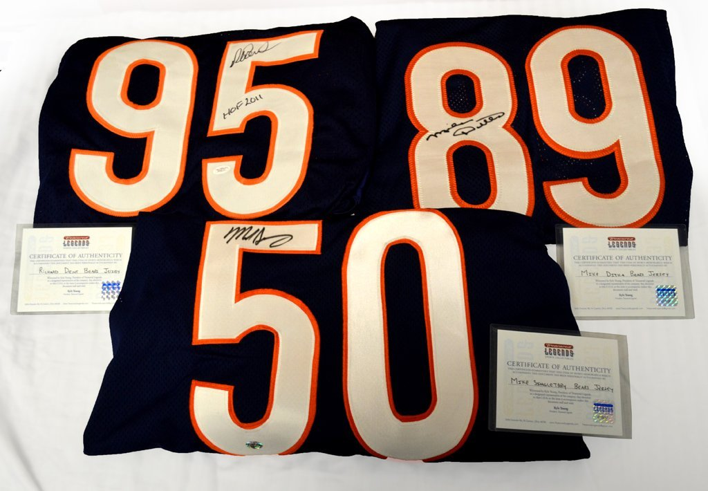 Chicago Bears Autographed Jerseys -Hall of Fame Package