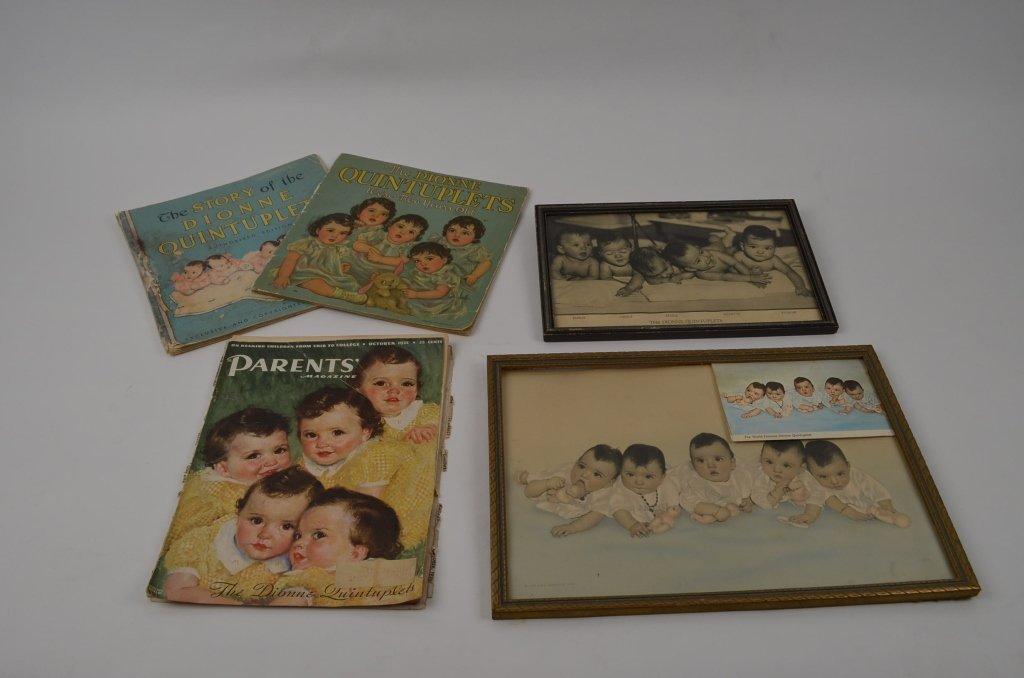 Assorted Dionne Quintuplet Memorabilia