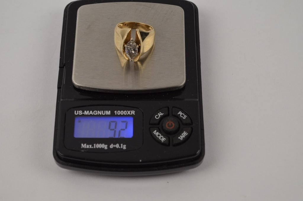 Ladies Marquise Cut  14k Gold Ring