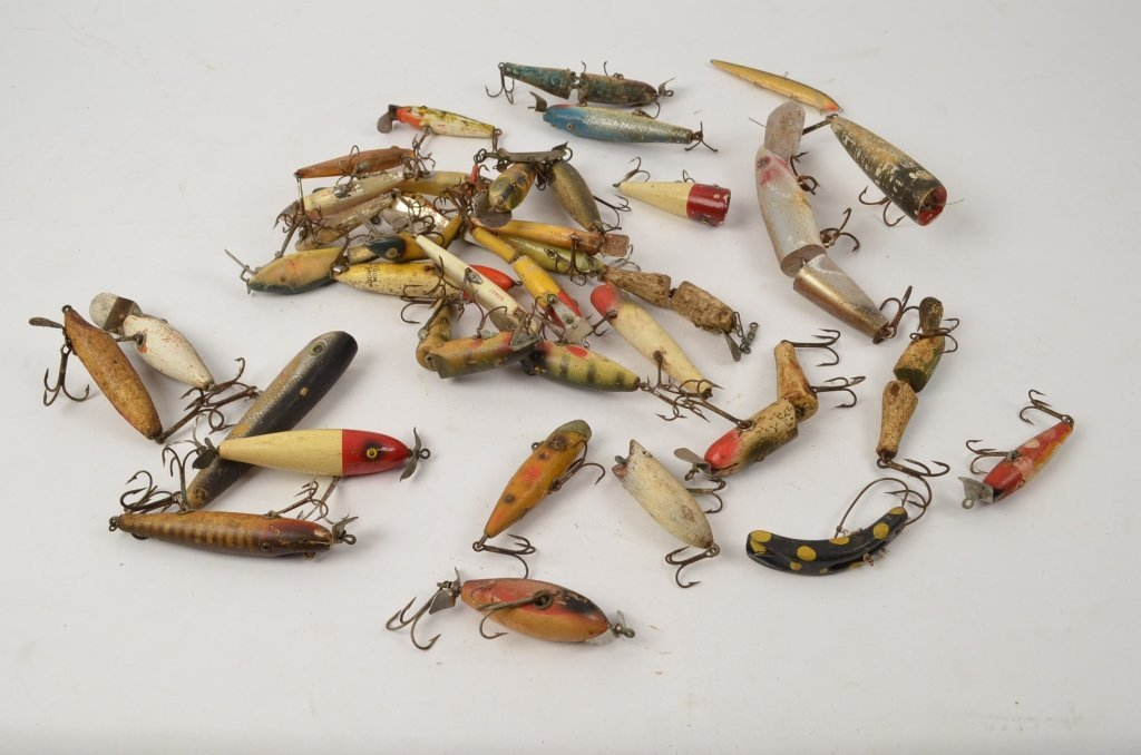 Lot of Vintage Wooden Fishing Lures