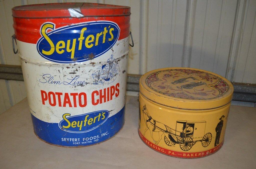 Seyferts Potato Chip & Sturgis Pretzels Tins