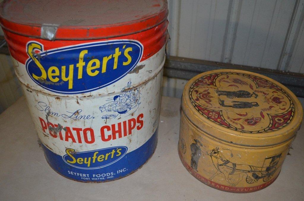 Seyferts Potato Chip & Sturgis Pretzels Tins - 3
