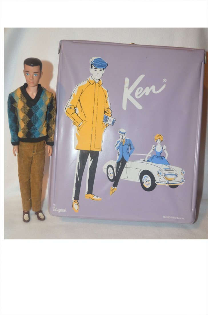1960 Ken Barbie Doll, Original Carrying Case & Outfits