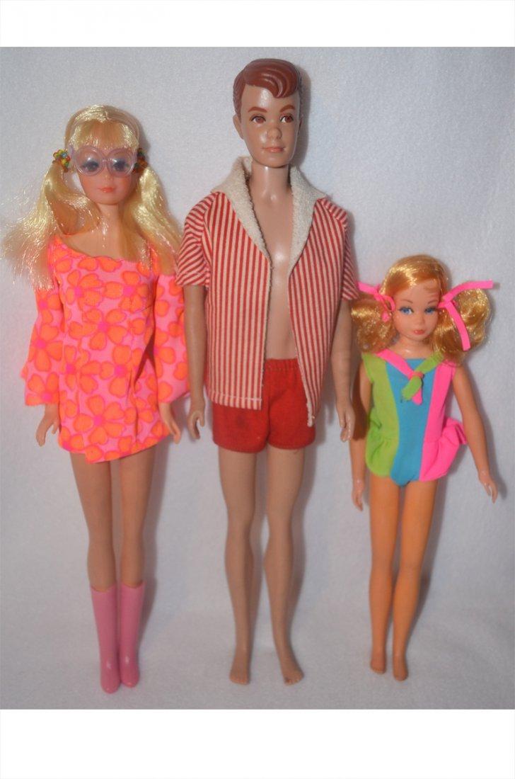 3 Vintage Barbie Dolls in Original Barbie Brand Outfits