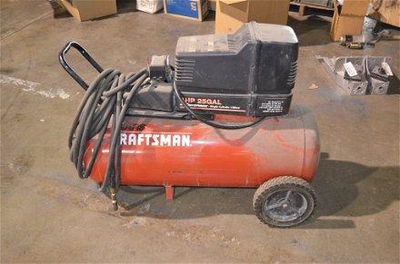 Craftsman 4hp 25 Gal Air Compressor Apr 13 2013 Scheerer Mcculloch Auctioneers Inc In In