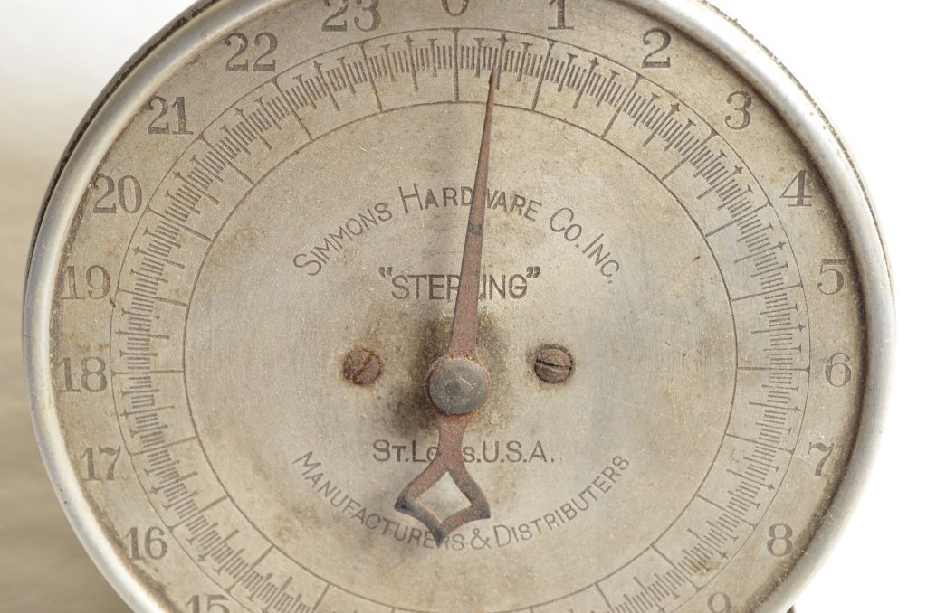 "Simmons Hardware Co. ""Sterling"" 24lbs. Scale - 3"