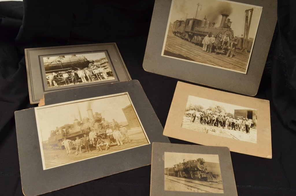 Real Photos of Early Railroad Steam Engines