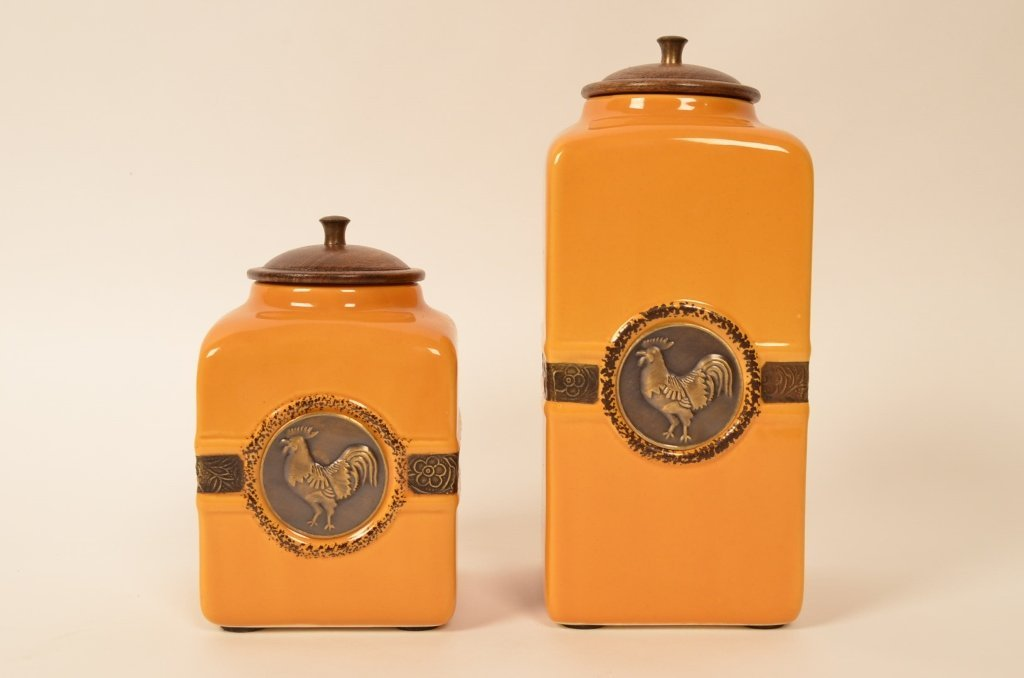 Decorative Rooster Ceramic Canisters