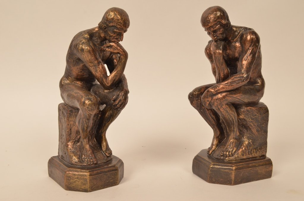 Man Thinking  Book Ends