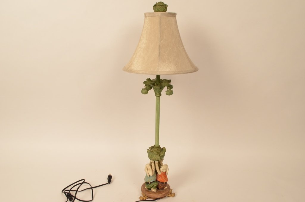 Cabbage Patch Rabbit Motif Table Lamp