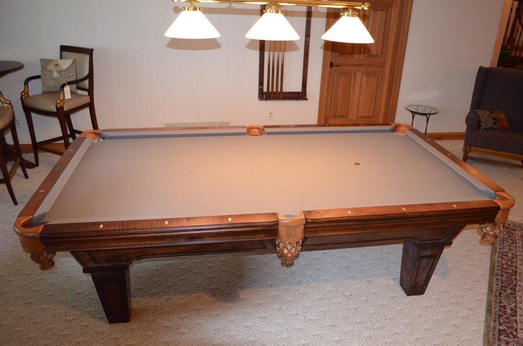 Stained Ash Beach Billiards Table